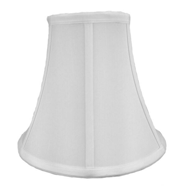 5x10x8.5 White Bell Shantung Shade