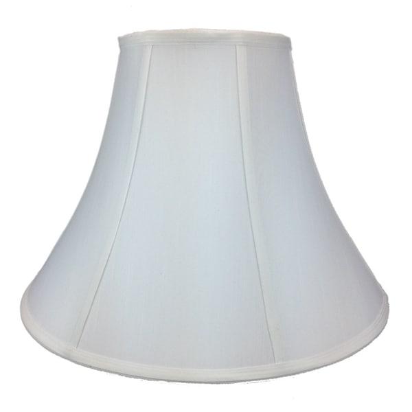 7x17x12.5 White Bell Shantung Shade
