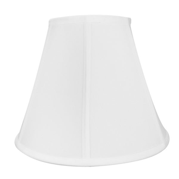 6x12x9.5 White Empire Shantung Fabric Lamp Shade