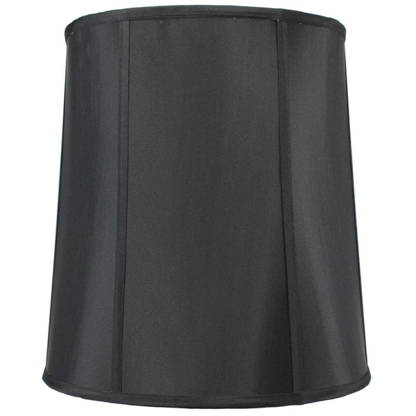 12x14x15 Black Fabric Drum lamp Shade with Gold Liner