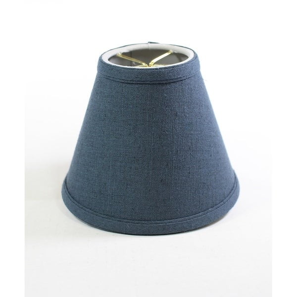 Textured Slate Blue Clip-on Candlelabra Shade