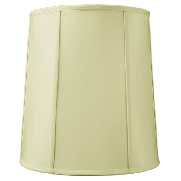 12x14x15 Drum Lampshade with Piping Eggshell