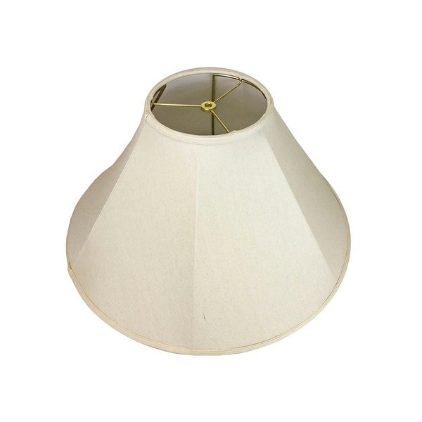 8x22x14 Collapsible Coolie Lamp Shade Premium Light Oatmeal Linen