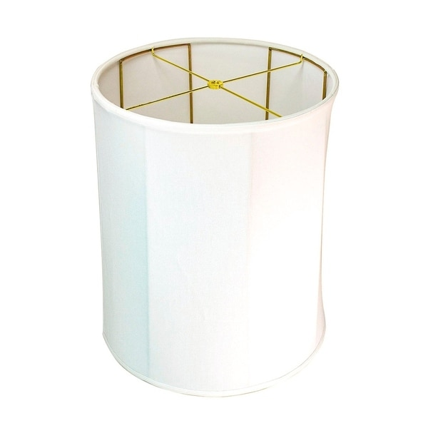 15x16x19 Collapsible Drum White Linen Lampshade (Folds for easy moving and storage)