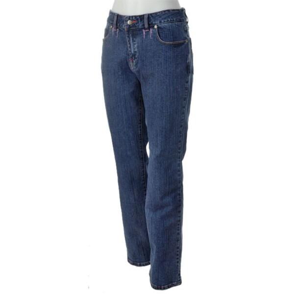 Shop Bill Blass Embroidered Pockets Denim Jeans