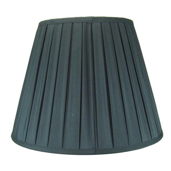 11x18x13.5 Empire Box Pleat Lamp Shade Black