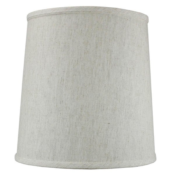 Textured Oatmeal Drum Shantung Shade