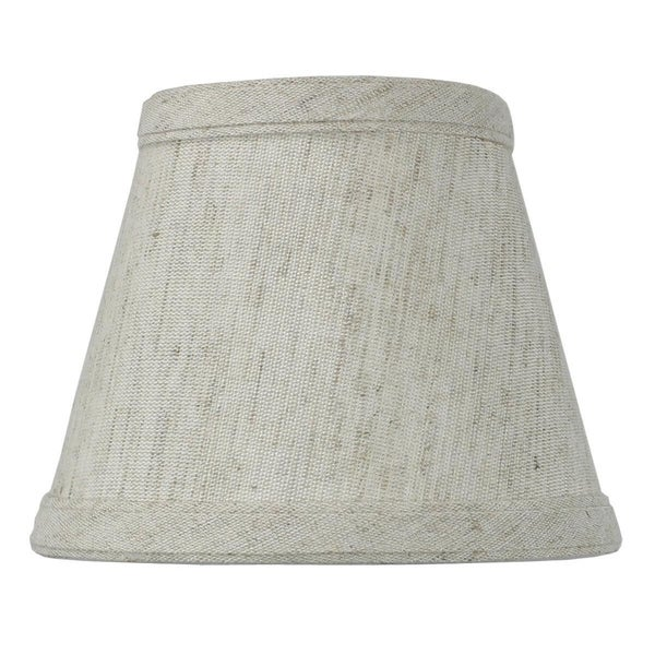 Textured Oatmeal Clip-on Candlelabra Shade
