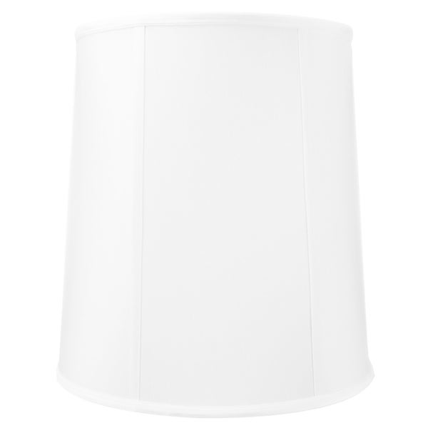 12x14x15 White Linen Fabric Drum Lampshade