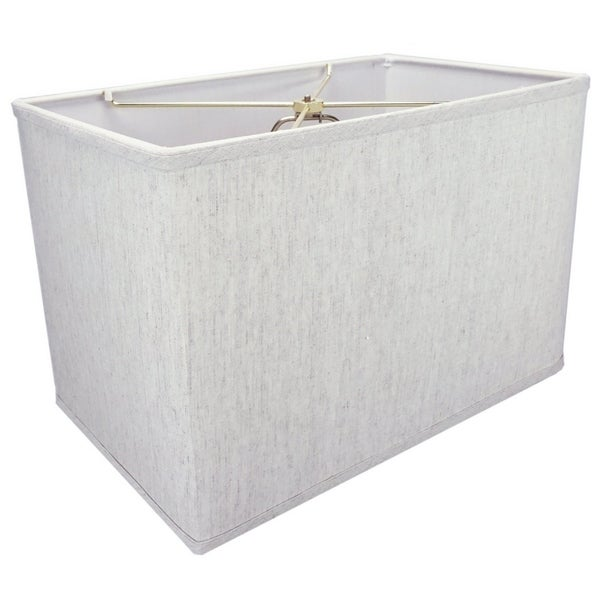 Rectangular Drum Lampshade (10x16) (10x16) x 11 Textured Oatmeal