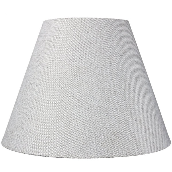 8x16x12 Hard Back Empire Lampshade - Khaki Burlap