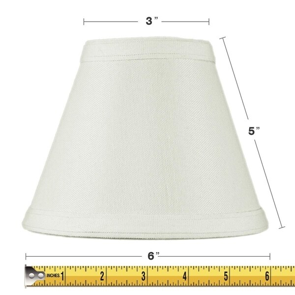 3x6x5 Hard Back Empire Candle Clip Lamp Shade Light Oatmeal