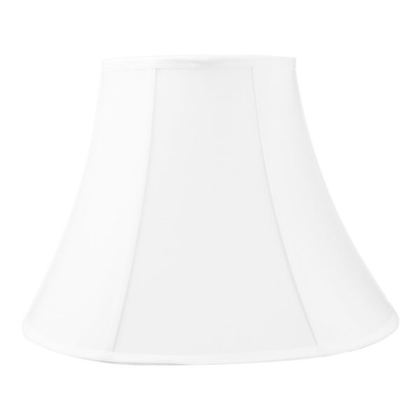 9x18x13.5 White Bell Shantung Lampshade. Opens flyout.