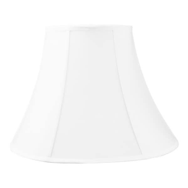 9x18x13.5 White Bell Shantung Lampshade