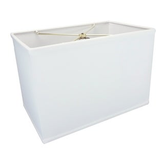Rectangular Drum Lampshade (10x16) (10x16) x 11 White