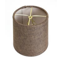 5x6x5 Chocolate Burlap Drum Chandelier Clip-On Lampshade
