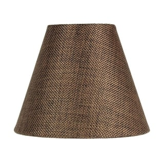 Link to 3x6x5 Chocolate Burlap Chandelier Lampshade Similar Items in Lamp Shades