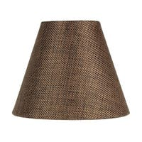 3x6x5 Chocolate Burlap Chandelier Lampshade