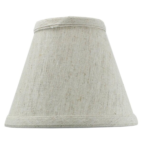 Textured Oatmeal Chandelier Lamp Shade -