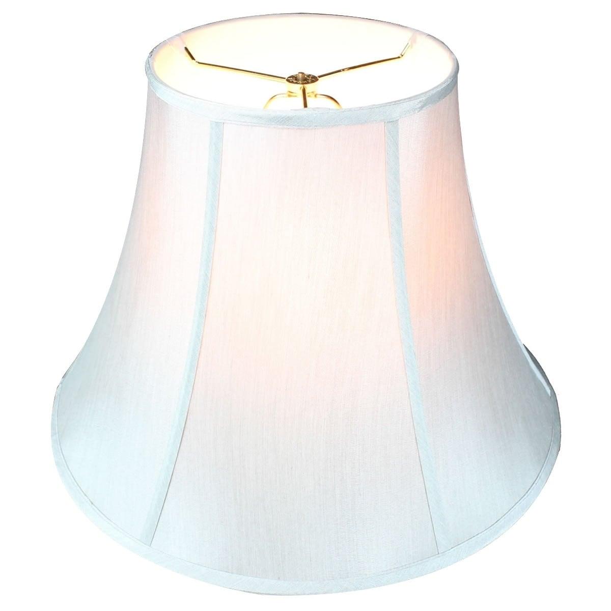 Concept 9x18x13.5 Grey Bell Shantung Lamp Shade (Silk)