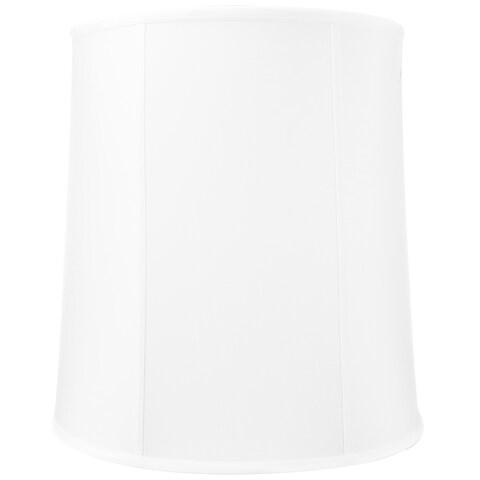 14x16x17 White Drum Shantung Lampshade