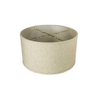 Link to Textured Oatmeal  Shallow Drum Lampshade 18x18x10 Similar Items in Lamp Shades