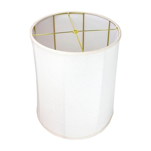 15x16x19 Collapsible Drum Lamp Shade Premium Light Oatmeal Linen