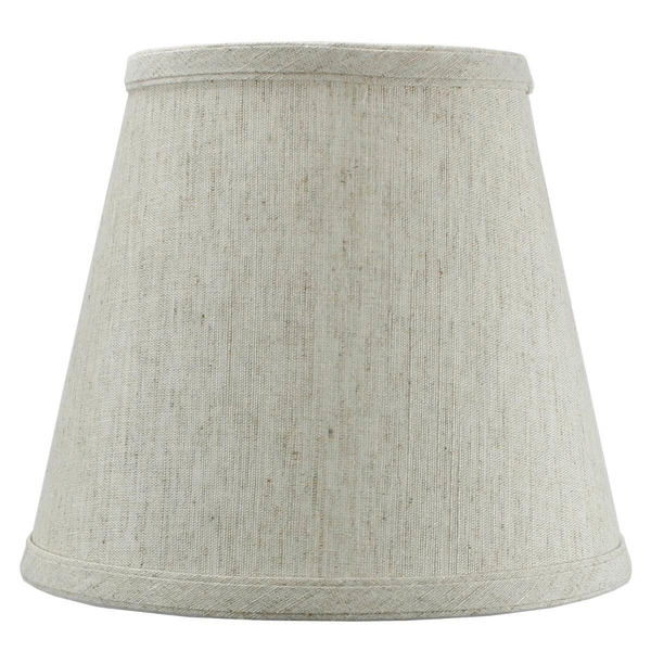 5x8x7 Textured Oatmeal Hard Back Lampshade with Gold Lining Edison Clip On