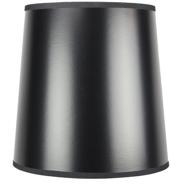 10x12x12 Black Parchment Gold-Lined Drum Lampshade