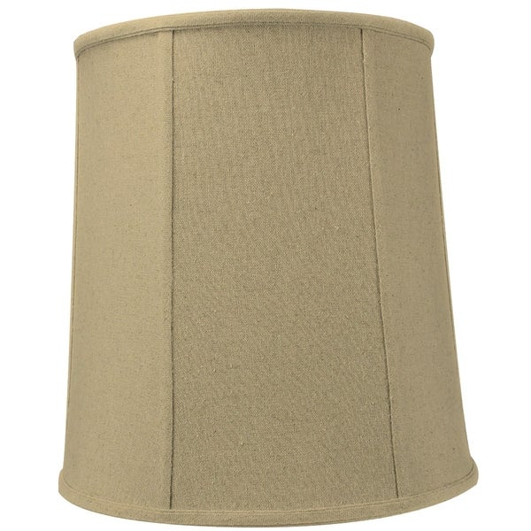 12x14x15 Sand Linen Drum Lamp Shade with Beige Liner