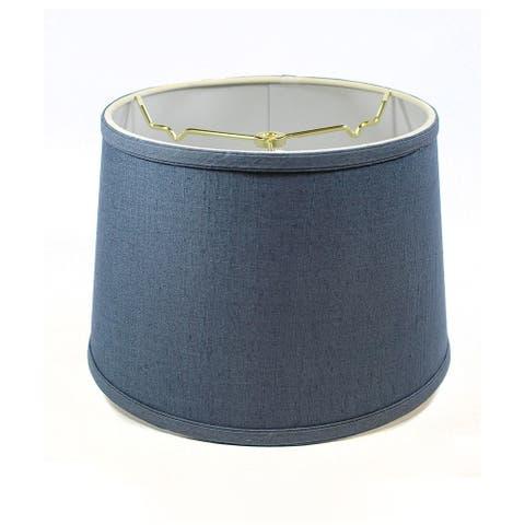 Hardback Shallow Drum Lamp Shade 10x12x8 Textured Slate