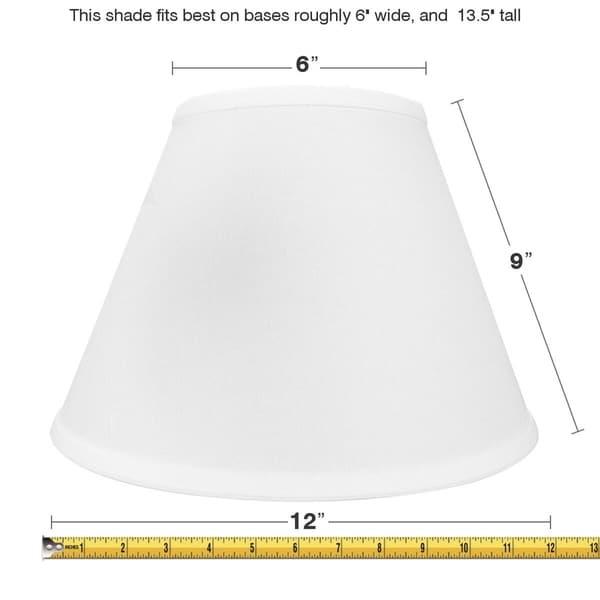 6x12x9 White Empire Hardback Lampshade