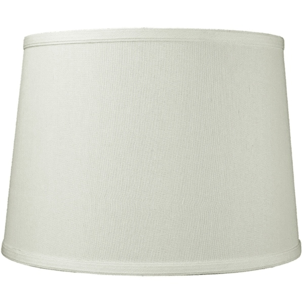 12x14x10 Light Oatmeal Linen Drum Lampshade