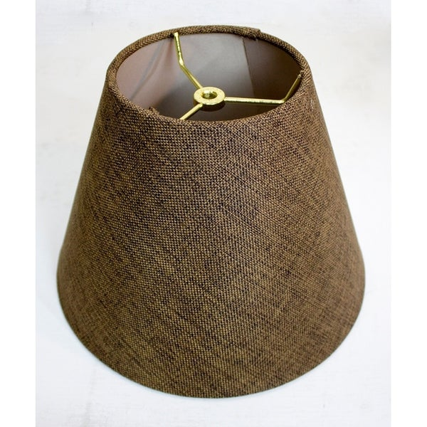 6x12x9 Hard Back Empire Lamp Shade - Chocolate Burlap