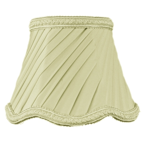 3x5x4 Crisp Linen Pleated Twist Clip-on Candelabra Lampshade