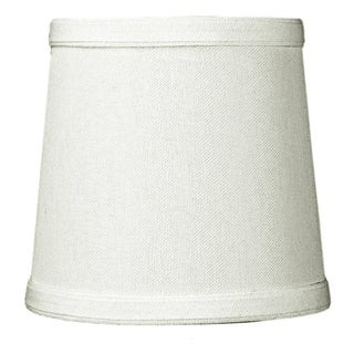 Link to 5x6x5 Light Oatmeal Linen Drum Chandelier Clip-On Lampshade Similar Items in Lamp Shades