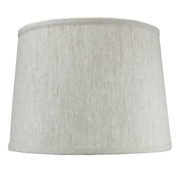 Textured Oatmeal Drum Shade 12x14x10