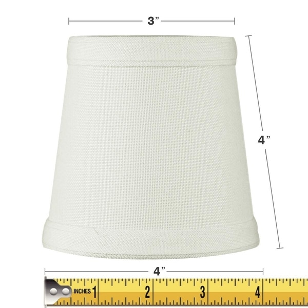 3x4x4 Clip-on Candelabra Lamp Shade Light Oatmeal