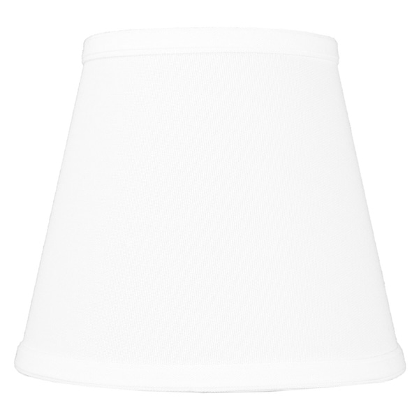 5x8x7 Empire Hardback White Linen Edison Clip-On Lampshade