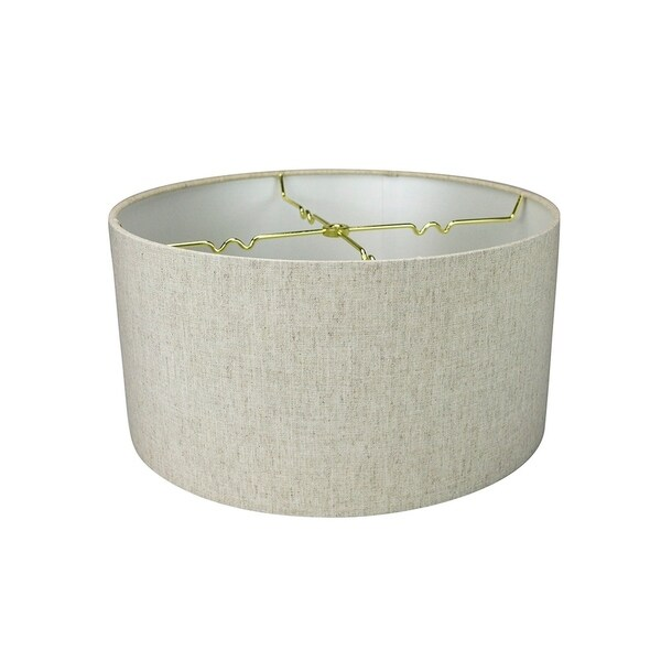 Textured Oatmeal Hardback Drum Lampshade 14x14x7