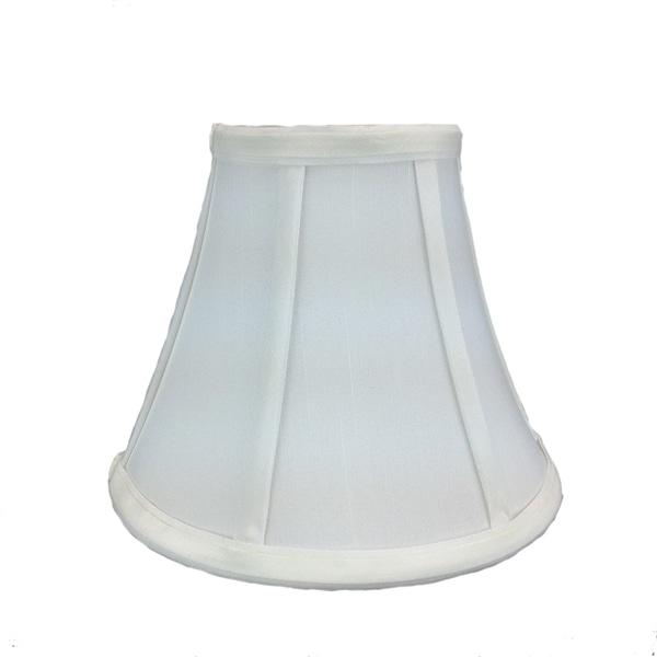 4x8x6 White Bell Shantung Shade
