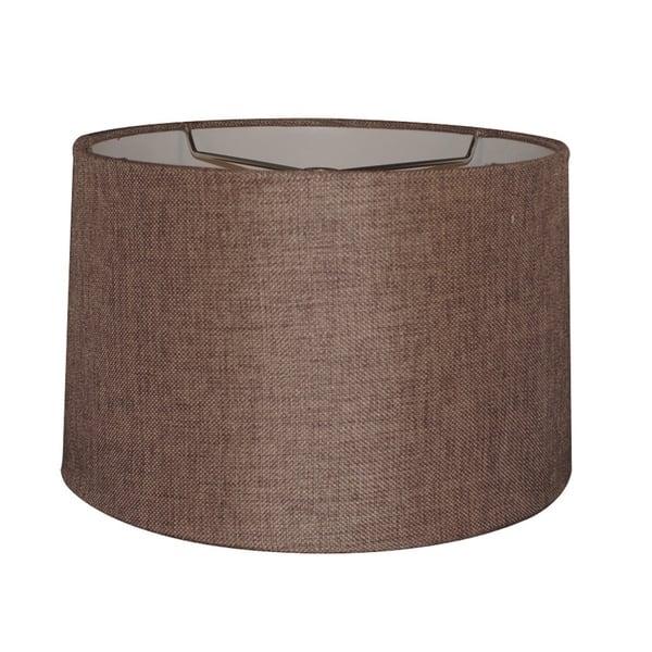 12x14x10 Hardback Drum Lamp Shade Chocolate Burlap