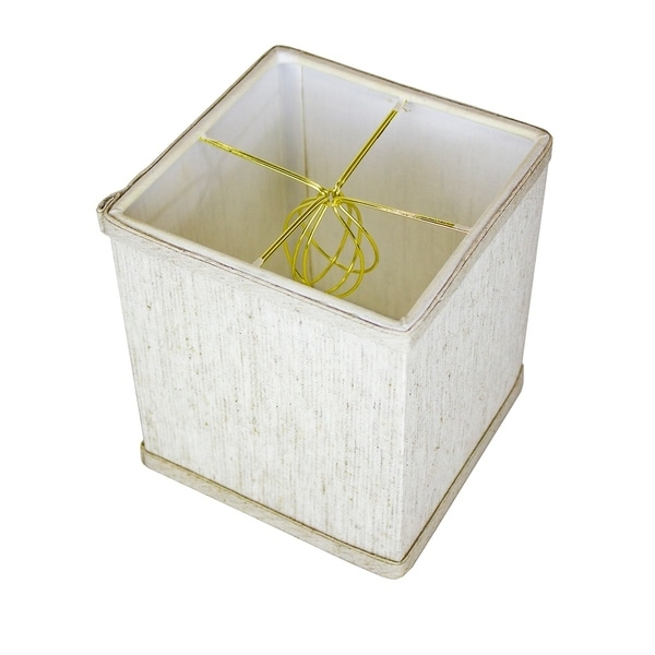 Rectangular Drum Lampshade (6x6) (6x6) x 7 Textured Oatmeal