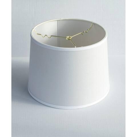 12x14x10 White Linen Drum Lampshade