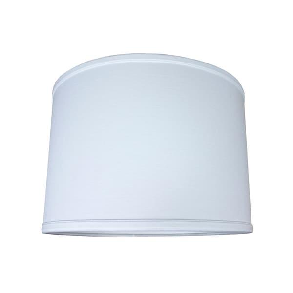 14x14x10 Drum Lamp Shade Premium White Linen