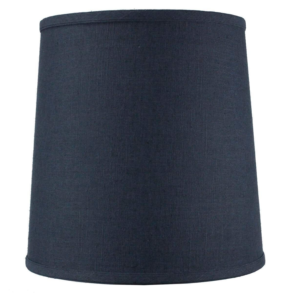 Concept Textured Slate Blue Drum Shantung Shade (Fabric)