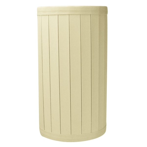 4.5x4.5x8.38 Hardback UNO Crisp Pleat Drum Lamp Shade Eggshell