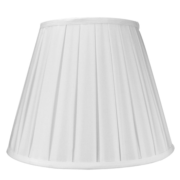 8x14x11 Empire Box Pleat Shade White