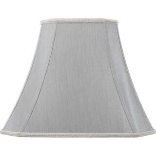 6x11x12 Grey Shantung Fabric Lampshade