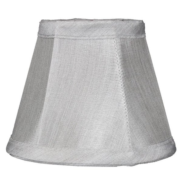 3x5x4 Grey Stretch Clip-On Candlelabra Clip-On Lamp shade